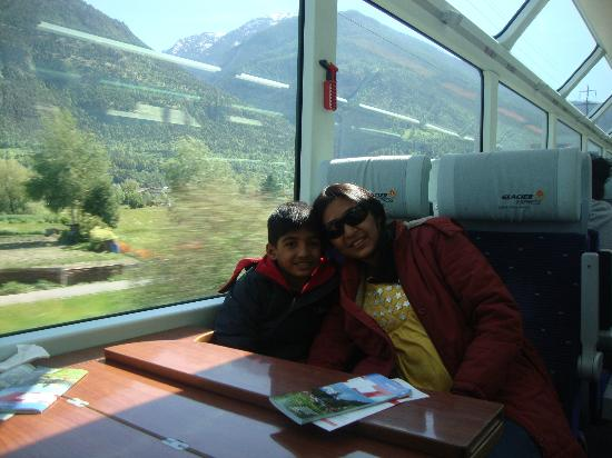 Inside Glacier express
