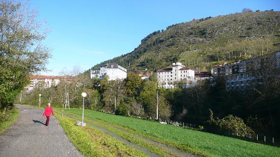 Balneario Cestona: Desde la zona del hotel, Zestoa