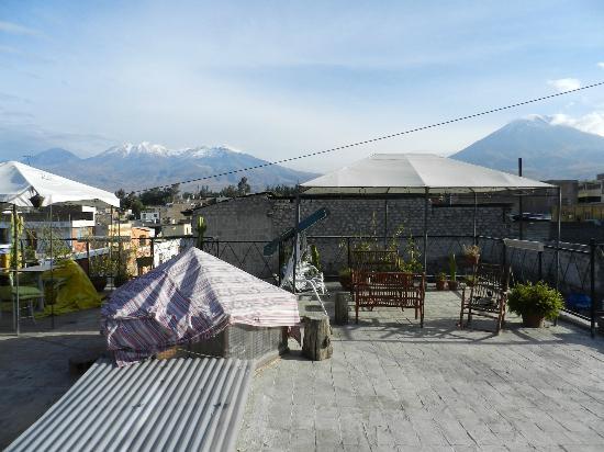 La Posada del Cacique: View from Roof top 'breakfast' area