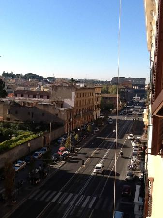 La Finestra sul Colosseo B&B: view from the deluxe room WITH a view. (You have to stick your head out window to see)