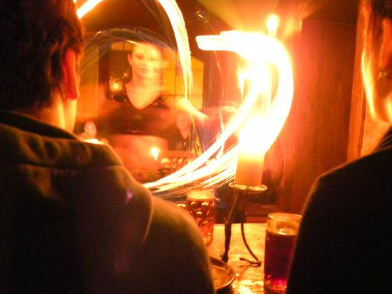 Stredoveka Krcma (Medieval Tavern) : Fire show is very close
