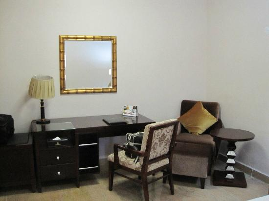 Desk in bedroom - Picture of Chelsea Hotel, Abuja - TripAdvisor