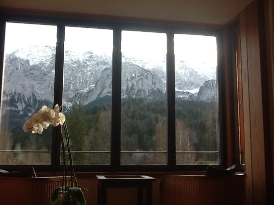 Schloss Elmau: the view from the room