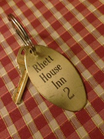 The Rhett House Inn: Real Room key
