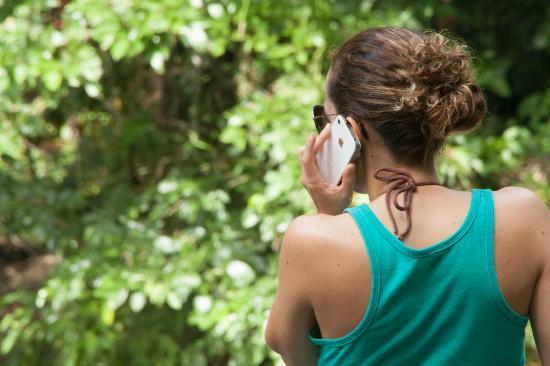 Hotel Hacienda Sueno Azul: Señal de celular en todo lugar