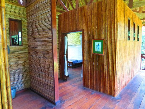Refugio Amazonas: The entrance into our room