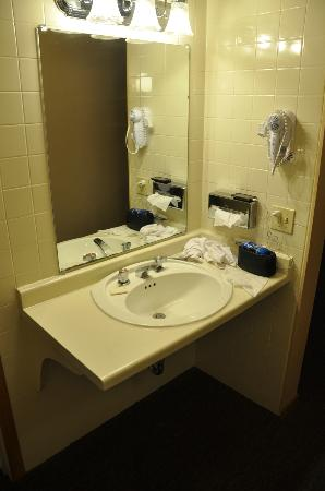 Ambers Hideaway: Bathroom sink area