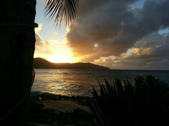 Cane Bay Campground, Virgin Islands: Sunset at Cane Bay