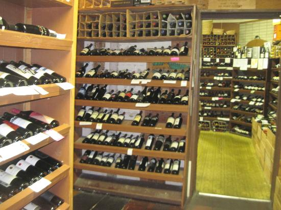 Wine & Cheese Gallery: Walls and walls of fine wines