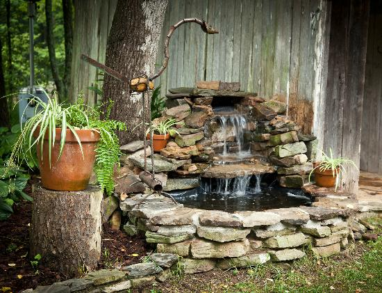 The Martyn House: Outdoor Fountain at Chicken Coop