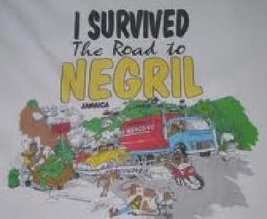 I survived the road to Negril t-shirt logo