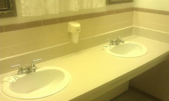 Chateau Motor Lodge: His and Her's sinks