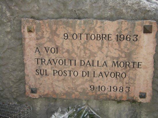 Erto e Casso, Italie : Ricordo delle vittime