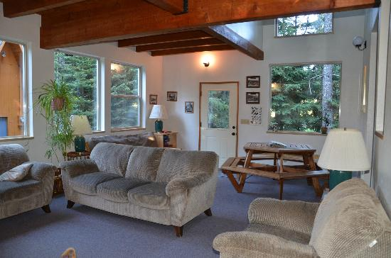 Summit Meadow Cabins: Our chalets have oversized living rooms