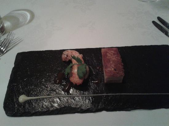 Jesmond Dene House: Tasting Menu - langoustine & pork