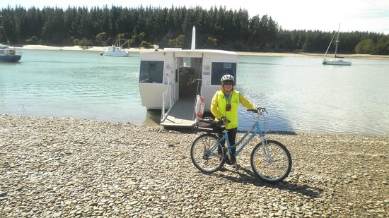 Wheelie Fantastic Cycle Hire & Tours: Bike, Boat and Rabbit Island in the distance