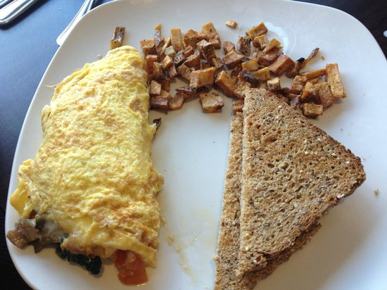 Kettle: omelette with toast