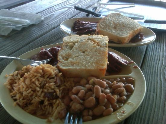Goode Company Barbeque: Our BBQ feast