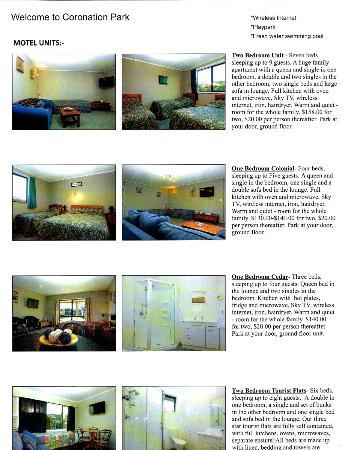 Coronation Park: Accommodation Types