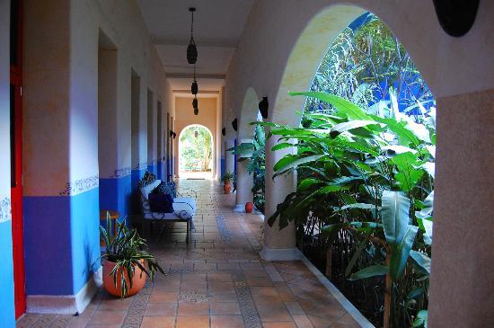 Hotel Medio Mundo: Center courtyard and hallway
