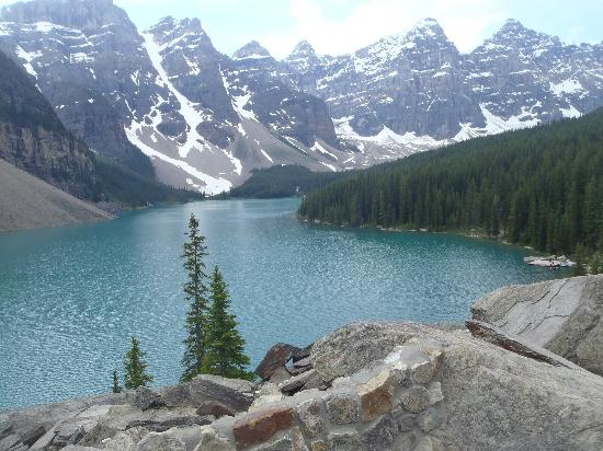 Beautiful Moraine Lake at lunchtime