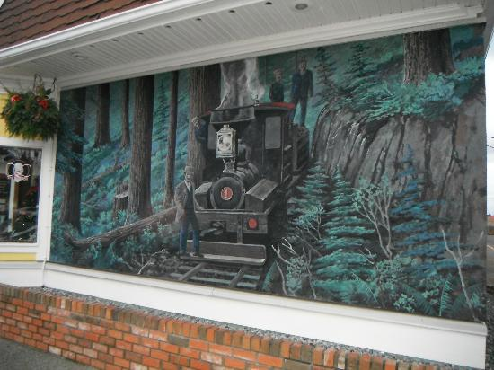 train mural picture of wall murals chemainus tripadvisor