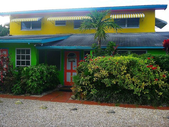 Eldemire's Tropical Island Inn : Hotel facade. There are 4 rooms on the top floor.