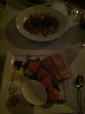 Fairview Cafe: crab and risotto balls and smoked salmon apps!