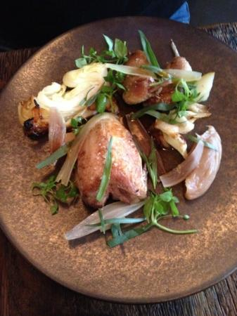 Septime: plat2: roasted succulent quail with crunch cabbage. perfectly executed and dish of the day.