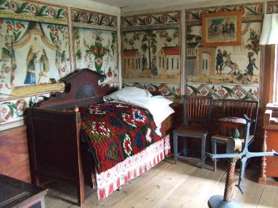 Wandschmuck Im Schlafzimmer - Bild Von Freilichtmuseum Skansen