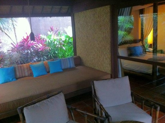 Jeeva Klui Resort: outdoor view of our room entrance