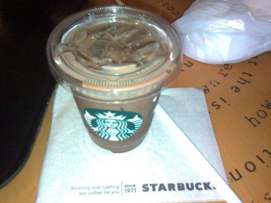 Starbucks: cold cafe mocha...