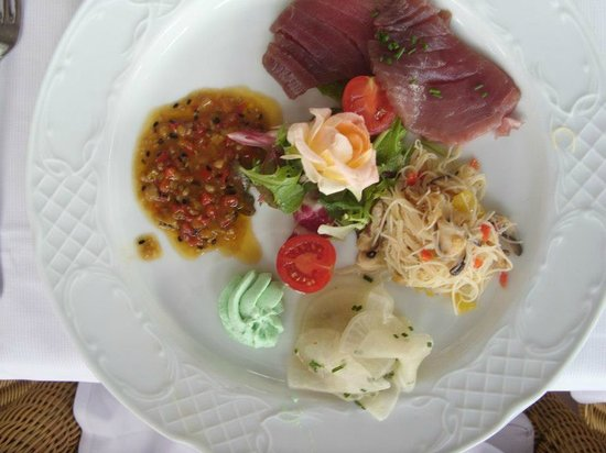 Hotel Villa Italia: First course of our wedding dinner