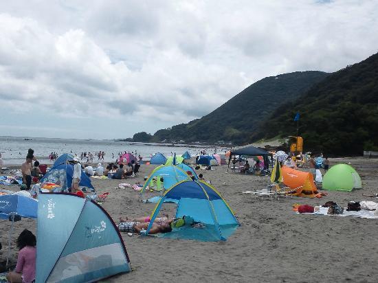 Yumigahama Beach: けっこう広い