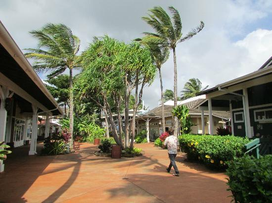 Kauai Cove Cottages: Nearby shopping/eating area