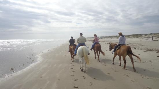 Corpus Christi, TX: Our group riding