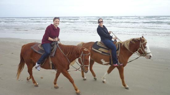 Horses On The Beach: Corpus Christi : Guide took this photo of us as we were riding