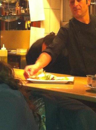 Restaurant Angelos's: open keuken..