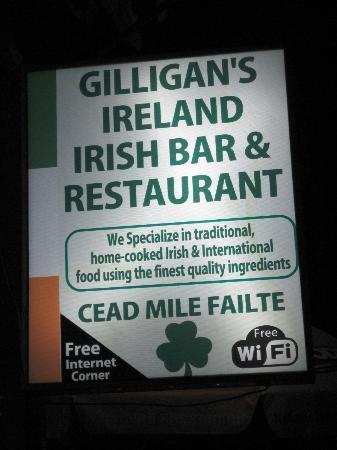 Gilligan's Ireland: The Sign