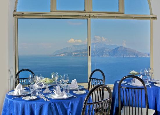 Hotel San Michele: panorama dal ristorante golfo di napoli