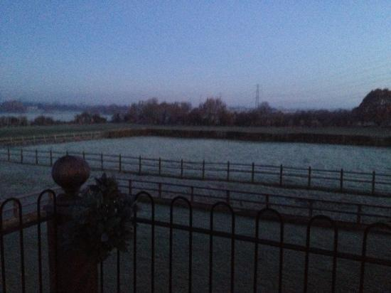 Whaddon Grove House: view from the balcony, 5am