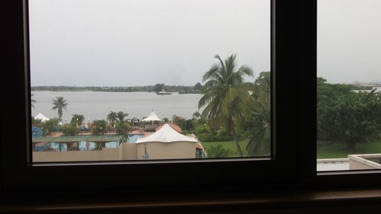 The Federal Palace Hotel: view of lagos lagoon from room