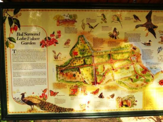WelcomHeritage Bal Samand Lake Palace: poster map of the grounds