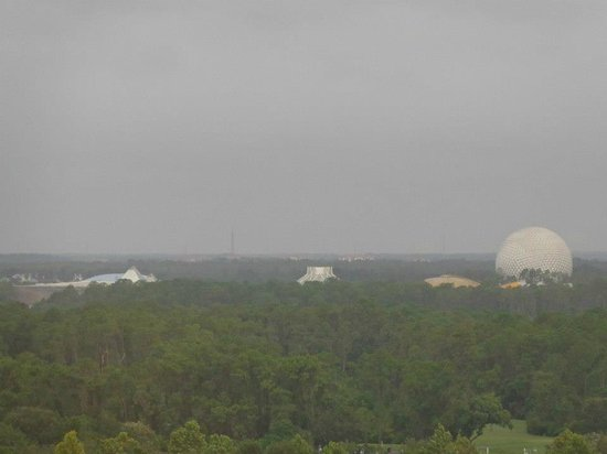 Wyndham Lake Buena Vista Disney Springs Resort Area: View of Epcot from room