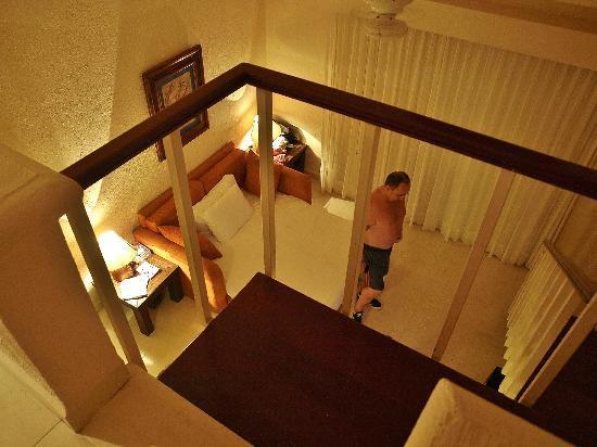 All Ritmo Cancun Resort & Waterpark: View from mezzanine bedroom