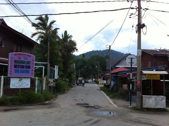 Nipah Bay Villa: The road leading to the hotel