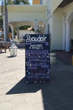 Boudoir menu