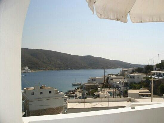 Diosmarini: vue de notre chambre baie de Katapola