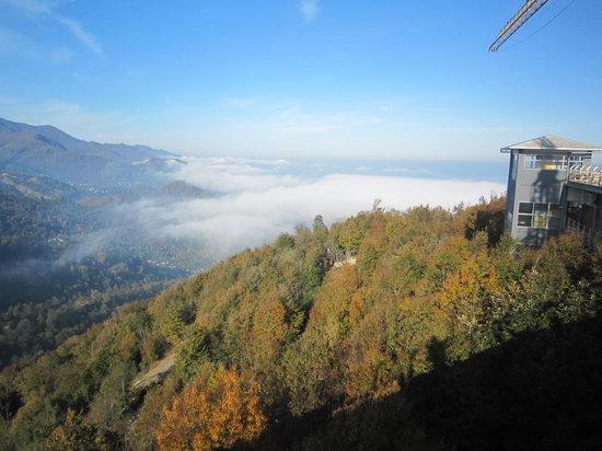 Ramsar Cable Car: morning fog