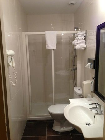 Ibis Styles Metz Centre Gare : ensuite is ok. I am not convinced the cleaner was too good though, failed to deal with broken i
